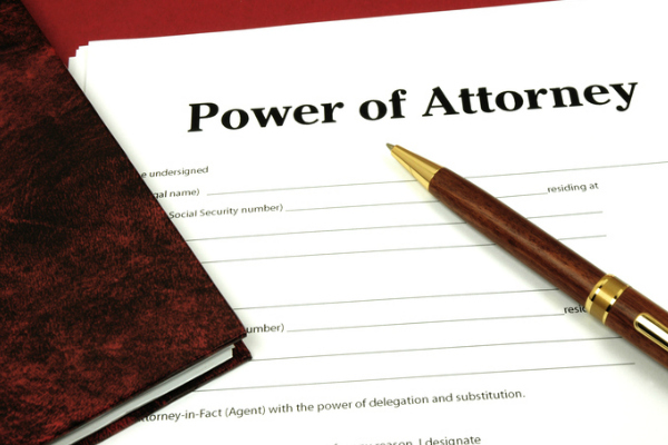 Image of Power of Attorney Document